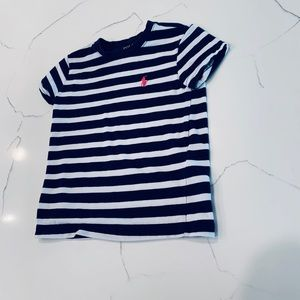 GUC POLO Navy and White striped T